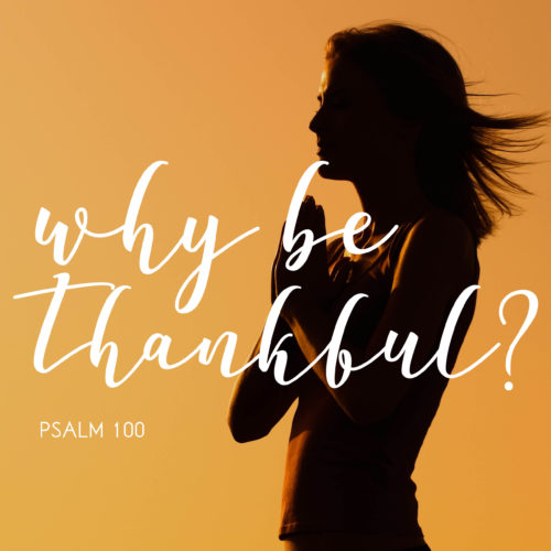 why be thankful? sermon