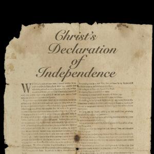 Christ's Declaration of Independence